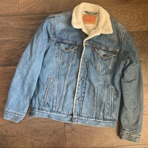 Levis Trucker Bomber Sherpa Lined Denim Jacket